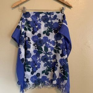 AEO | Blue Floral Long Scarf